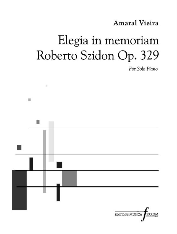 Amaral Vieira Elegia in memoriam Roberto Szidon Op. 329 single license Page 1